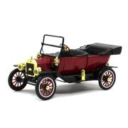 Miniatura Ford USA Model T Capota Removível 1915 Vermelho 1/18 Motor City Classics