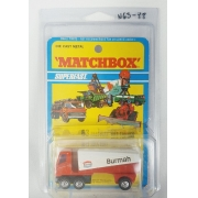 Miniatura Freeway Gas Tanker Burmah Superfast N63 Anos 70 1/64 Matchbox