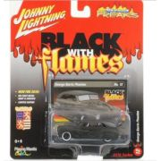 Miniatura George Barris Phaeton Black With Flames 1/64 Johnny Lightning
