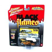 Miniatura George Barris Phaeton Black With Flames A 1/64 Johnny Lightning