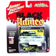 Miniatura George Barris Phaeton Black With Flames C 1/64 Johnny Lightning