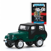 Miniatura Jeep CJ-5 1970 Garbage Pail Kids 1/64 Greenlight