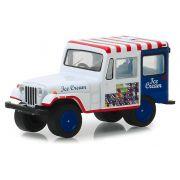 Miniatura Jeep DJ-5 1975 Ice Cream Truck 1/64 Greenlight