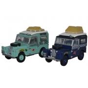 Miniatura Land Rover 2 Piece Set First Overland  1/76 Oxford