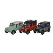 Miniatura Land Rover Defender Heritage Set 1/76 Oxford