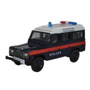 Miniatura Land Rover Defender LWB Station Hong Kong Police 1/76 Oxford