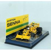 Miniatura Lotus Honda 99t Ayrton Senna Riding on Satoru Nakajima´s Car Italian GP 1987 1/43 Minichamps