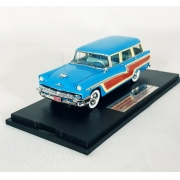 Miniatura Mercury Monterey Wagon 1956 Blue 1/43 Goldvarg Collection