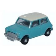 Miniatura Mini Cooper Austin Surf Blue 1/76 Oxford