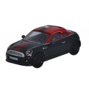 Miniatura Mini Cooper Coupe Black/Red 1/76 Oxford