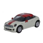 Miniatura Mini Cooper Coupe White/Red 1/76 Oxford