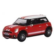 Miniatura Mini Cooper Red/White 1/76 Oxford