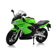 Miniatura Moto Kawasaki Ninja 650RS 1/10 Welly - Pequeno Defeito