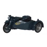 Miniatura Moto Sidecar RAF Blue 1/76 Oxford