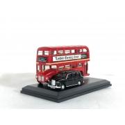 Miniatura Ônibus London Bus e Taxi Gift 1/76 Oxford