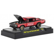 Miniatura Plymouth Barracuda HEMI 1968 Coca Cola Race Car 1/64 M2