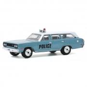 Miniatura Plymouth Belvedere 1970 Polícia 1/64 Greenlight