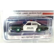 Miniatura Pontiac LeMans 1977 Policia Hot Pursuit Greenmachine 1/64 Greenlight
