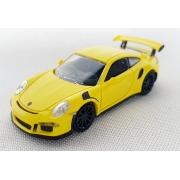 Miniatura Porsche 911 GT3RS 2015 Amarelo 1/87 Minichamps