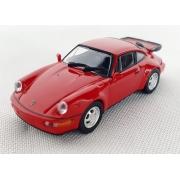 Miniatura Porsche 911 Turbo 964 1990 Vermelho 1/87 Minichamps