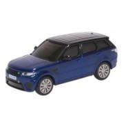 Miniatura Range Rover Sport SVR Estoril Blue 1/76 Oxford
