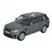 Miniatura Range Rover Sport SVR Indus Silver 1/76 Oxford