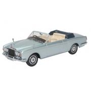 Miniatura Rolls Royce Corniche Convertible Silver 1/43 Oxford