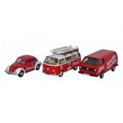 Miniatura Set Volkswagen 3 Piece Coca Cola 1/76 Oxford