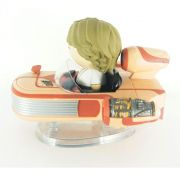 MINIATURA STAR WARS - LUKE SKYWALKER COM SPEEDER DISNEY DIRBZ