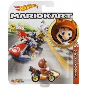 Miniatura Tanooki Mario Mario Kart 1/64 Hot Wheels