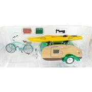 Miniatura Tear Drop Trailer 1947 1/24 Greenlight Greenmachine