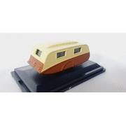 Miniatura Trailer Caravan Cream Brown 1/76 Oxford