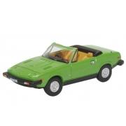 Miniatura Triumph TR7 Convertible Green 1/76 Oxford