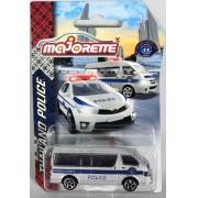 Miniatura Van Toyota Hiage Polícia Thailand 1/64 Majorette
