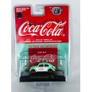 Miniatura Volkswagen Fusca 1953 Deluxe Coca Cola Georgia Green Chase 1/64 M2