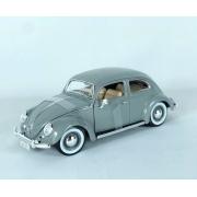 Miniatura Volkswagen Fusca 1955 Cinza 1/18 Bburago