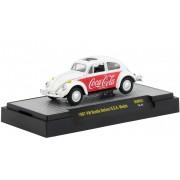 Miniatura Volkswagen Fusca 1967 Branco Coca Cola 1/64 M2