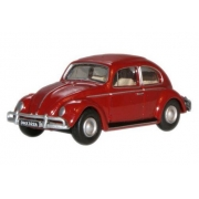 Miniatura Volkswagen Fusca Beetle Red 1/76 Oxford