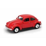 Miniatura Volkswagen Fusca Vermelho 1/64 California Minis