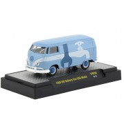 Miniatura Volkswagen Kombi 1960 Azul Claro 1/64 M2