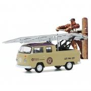 Miniatura Volkswagen Kombi 1972 Type 2 Ladder Truck Norman Rockwell 1/64 Greenlight
