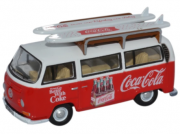 Miniatura Volkswagen Kombi Bus Surf Coca Cola 1/76 Oxford