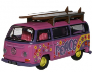 Miniatura Volkswagen Kombi Bus Surf Flower Power 1/76 Oxford