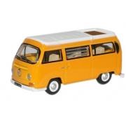 Miniatura Volkswagen Kombi Camper Closed Yellow 1/76 Oxford