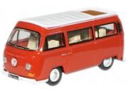 Miniatura Volkswagen Kombi Camper Red 1/76 Oxford
