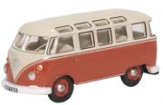 Miniatura Volkswagen Kombi Red Beige 1/76 Oxford