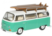 Miniatura Volkswagen Kombi Surf Green 1/76 Oxford