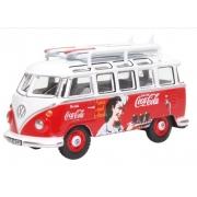 Miniatura Volkswagen Kombi T1 Coca Cola Surfboards 1/76 Oxford