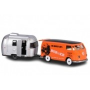 Miniatura Volkswagen Kombi T1 Food Truck com Trailer 1/64 Majorette