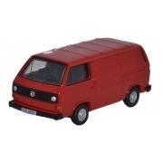 Miniatura Volkswagen T5 Van Red 1/76 Oxford
